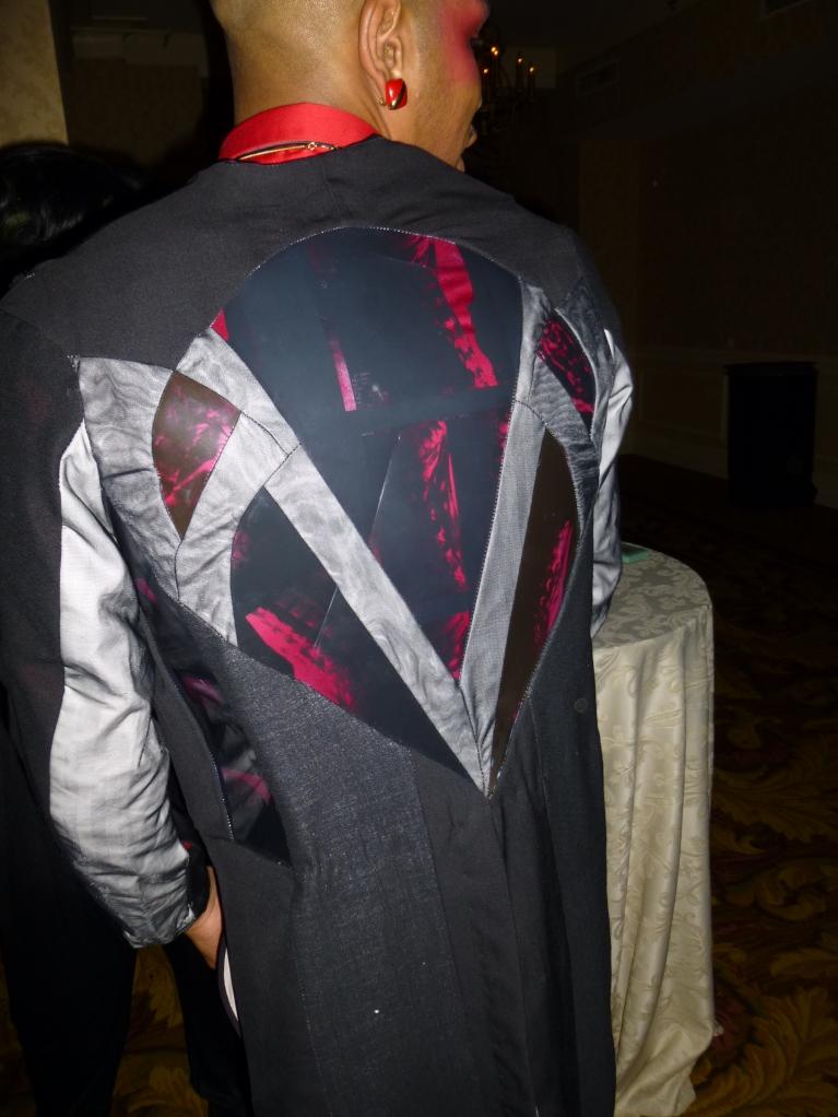 Tuxedo jacket made with x-ray film