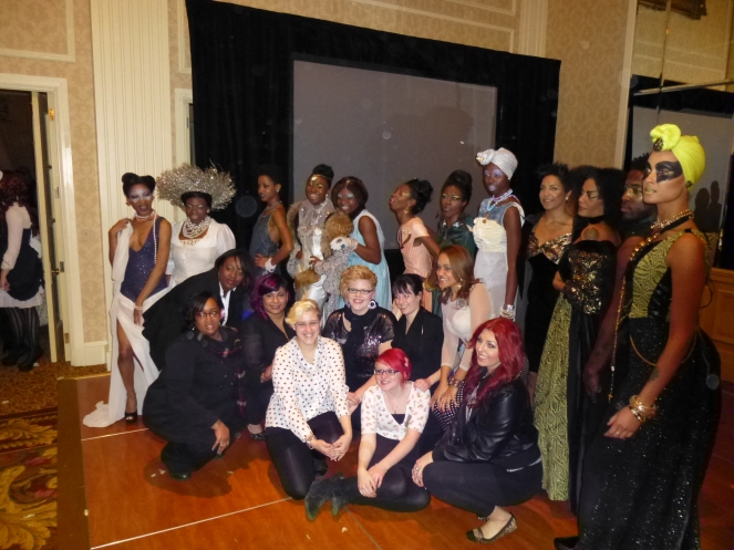 Models and local students who helped with the show