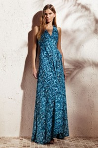 Animal georgette maxi dress