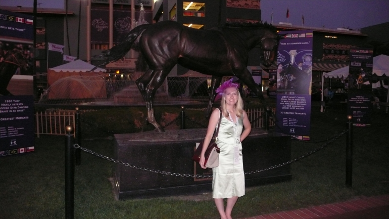 Wearing Zac Posen and Celine at the Breeders' Cup, Santa Anita Park in Arcadia, CA