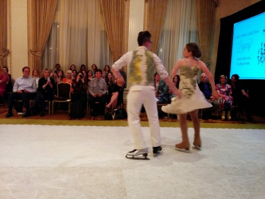 Timothy skates during the show